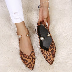 Ericdress Print Slip-On Flat With Leopard Womens Thin Shoes