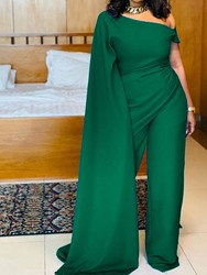 Ericdress Casual Full Length Plain Polyester Womens Slim Straight Jumpsuit