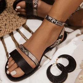 Ericdress Flat With Buckle Round Toe Women's Casual Sandals