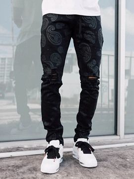 Ericdress Straight Lace-Up Casual Lace-Up Men's Jeans