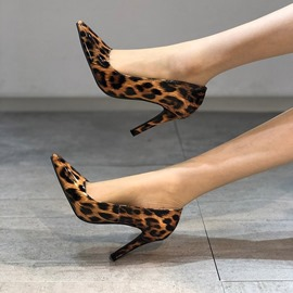 Ericdress Slip-On Print Pointed Toe 9cm Women's Thin Shoes