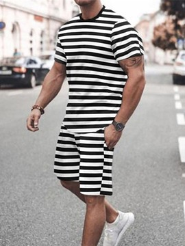Ericdress Casual Pocket Stripe Men's Outfit