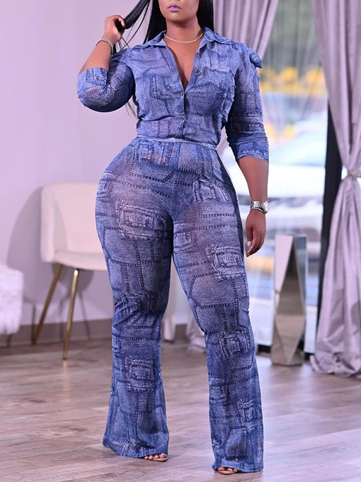 Ericdress Pants Casual Button Single-Breasted Two Piece Sets Women's Pants Set