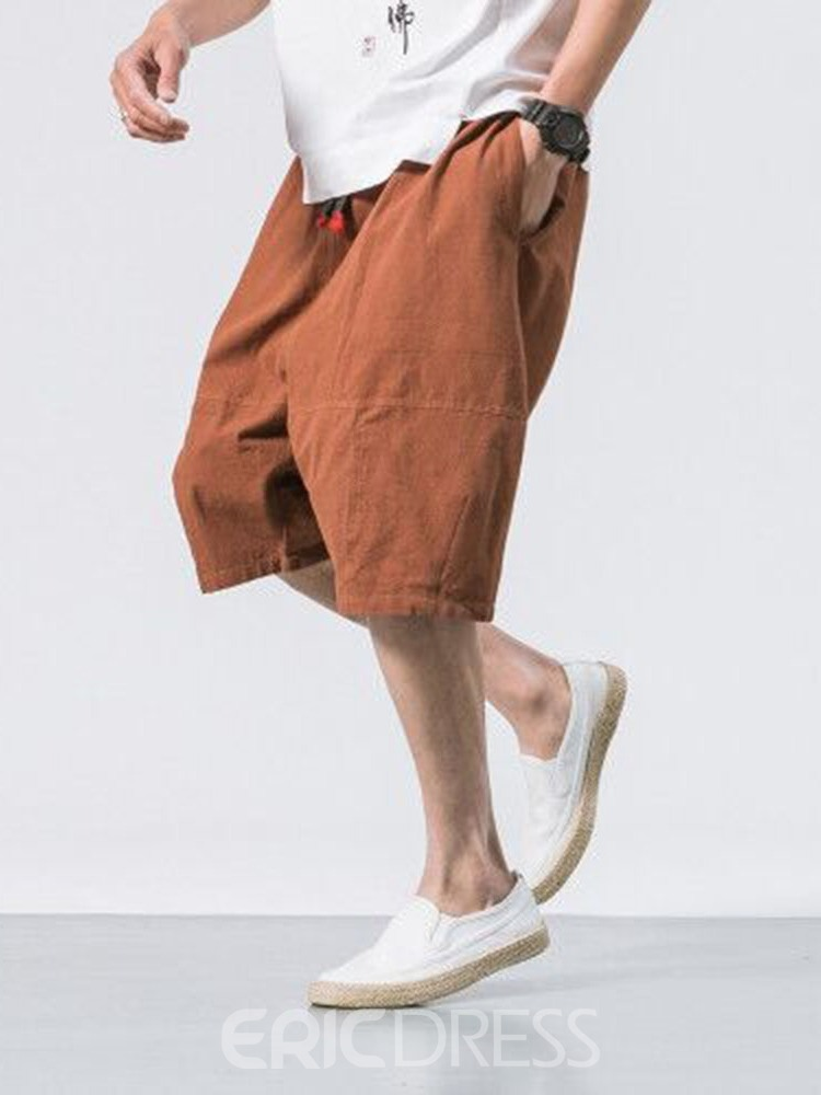 Ericdress Lace-Up Thin Lace-Up Men's Sports Casual Pants