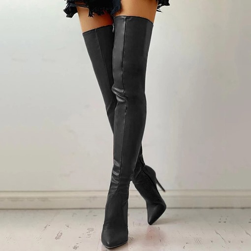 Ericdress Pointed Toe Side Zipper Plain Professional Boots