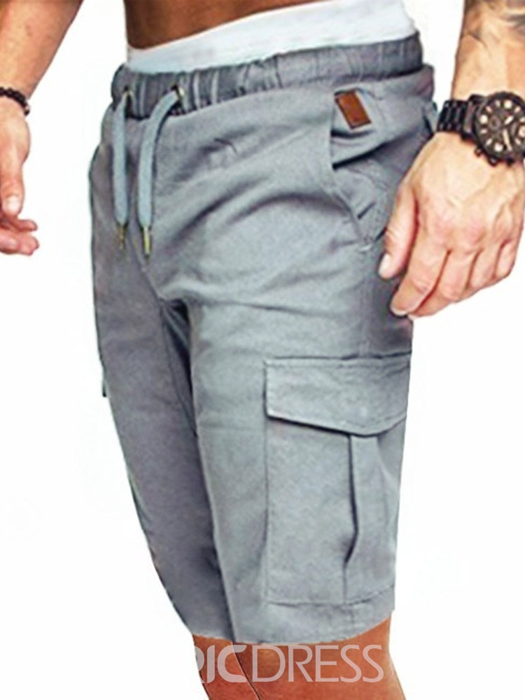 Ericdress Straight Lace-Up Pocket Men's Casual Pants