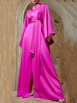 Ericdress A-Line Long Sleeves Sashes/Ribbons Floor-Length Evening Dress 2020