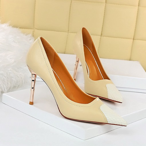 Ericdress Stiletto Heel Thread Pointed Toe Western Thin Shoes