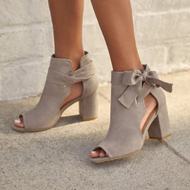 Ericdress Chunky Heel Lace-Up Lace-Up Western Thin Shoes