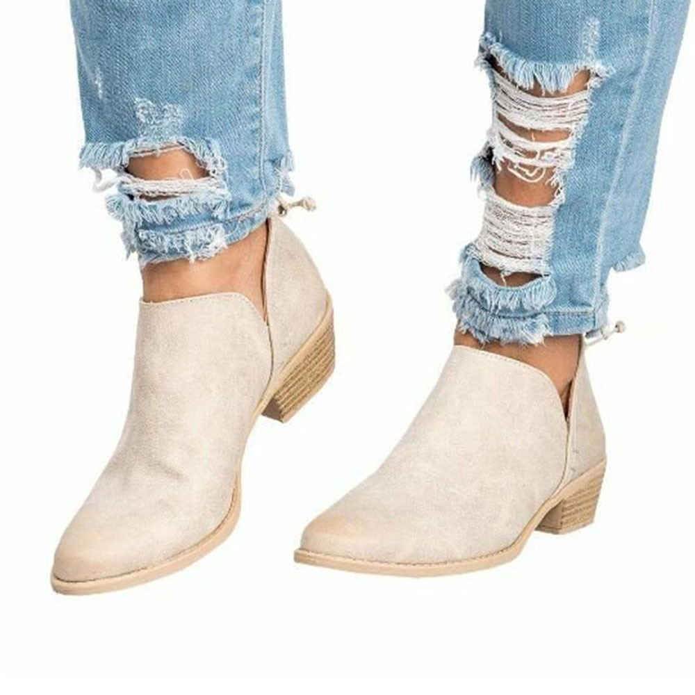 Ericdress Round Toe Thread Chunky Heel Professional Thin Shoes