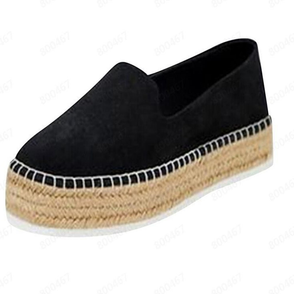 Ericdress Slip-On Round Toe Flat With Mid-Heel (3-5cm) Thin Shoes