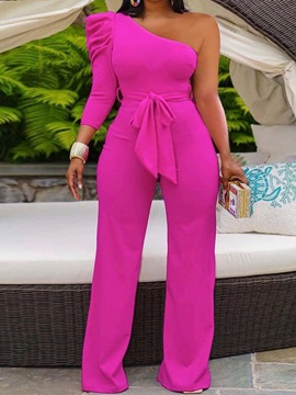 Ericdress Lace-Up Fashion Full Length High Waist Straight Women's Jumpsuit