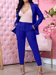Ericdress Pants Formal Pocket Ankle Length Long Sleeve Womens Suit