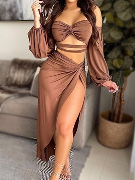 Ericdress Hollow Sexy Skirt Asymmetrical Pullover Two Piece Sets