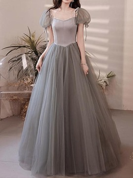 Ericdress Ball Gown Square Floor-Length Short Sleeves Quinceanera Dress 2020