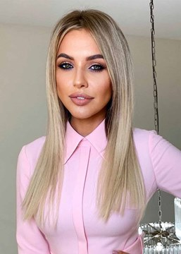 Ericdress Women's Bob Style Slik Straight Blonde Color Synthetic Hair Capless Wigs 22Inch