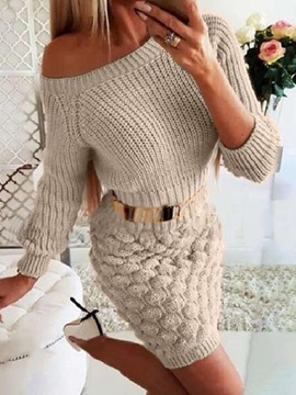 Ericdress Above Knee Long Sleeve Pullover Fashion Dress