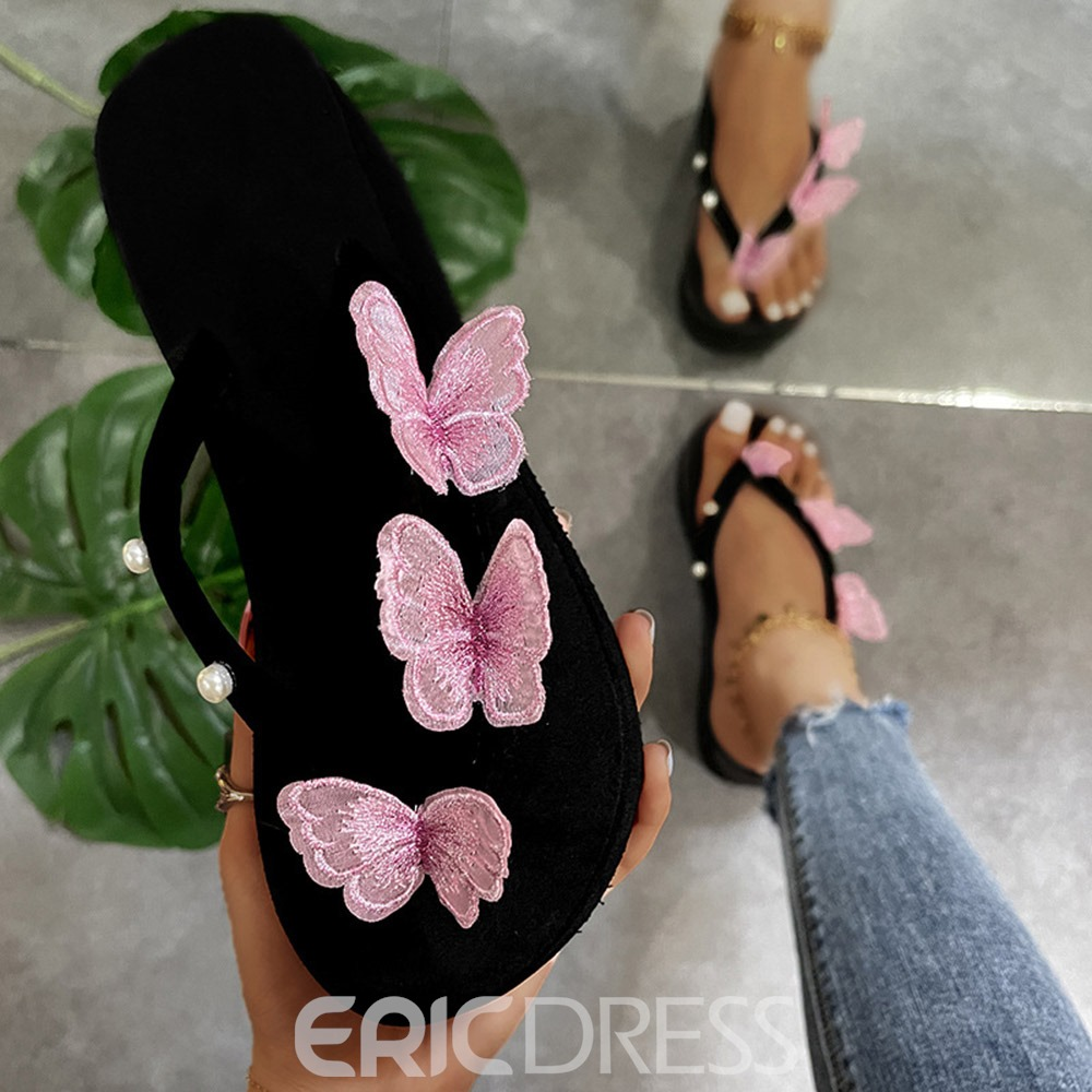Ericdress 3D Slip-On Thong Casual Slippers