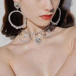 Ericdress Necklace Diamante Engagement Jewelry Sets