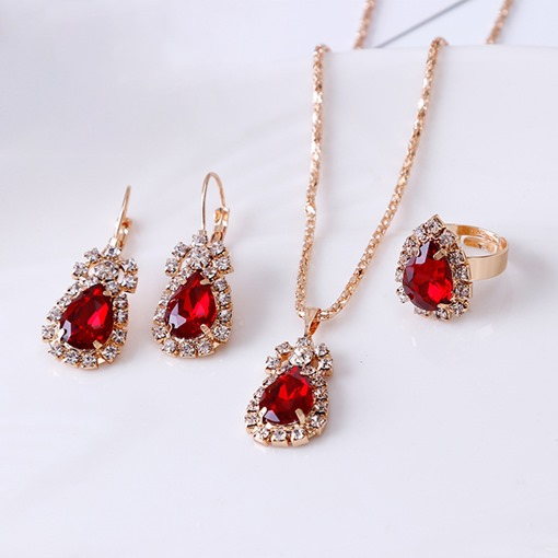 Ericdress Necklace Earrings Diamante Prom Jewelry Sets