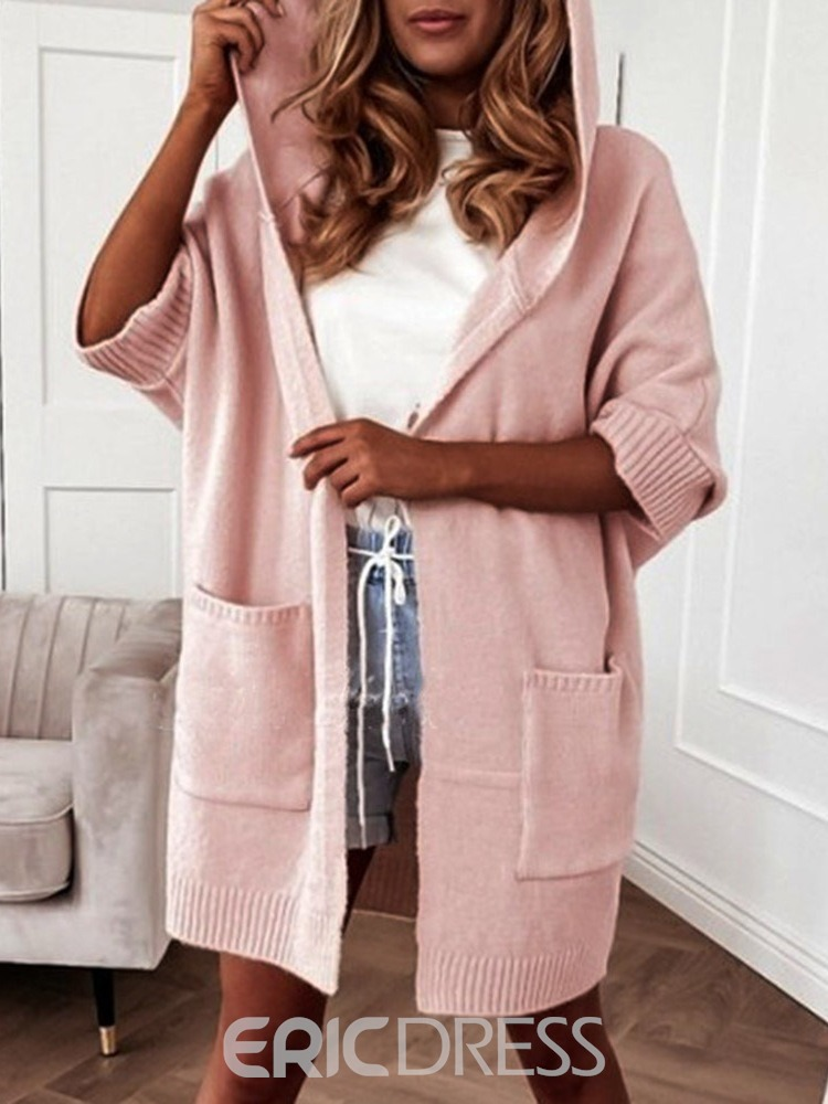Ericdress Wrapped Pocket Thin Mid-Length Loose Sweater