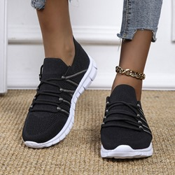 Ericdress Lace-Up Round Toe Lace-Up Mesh Sneakers