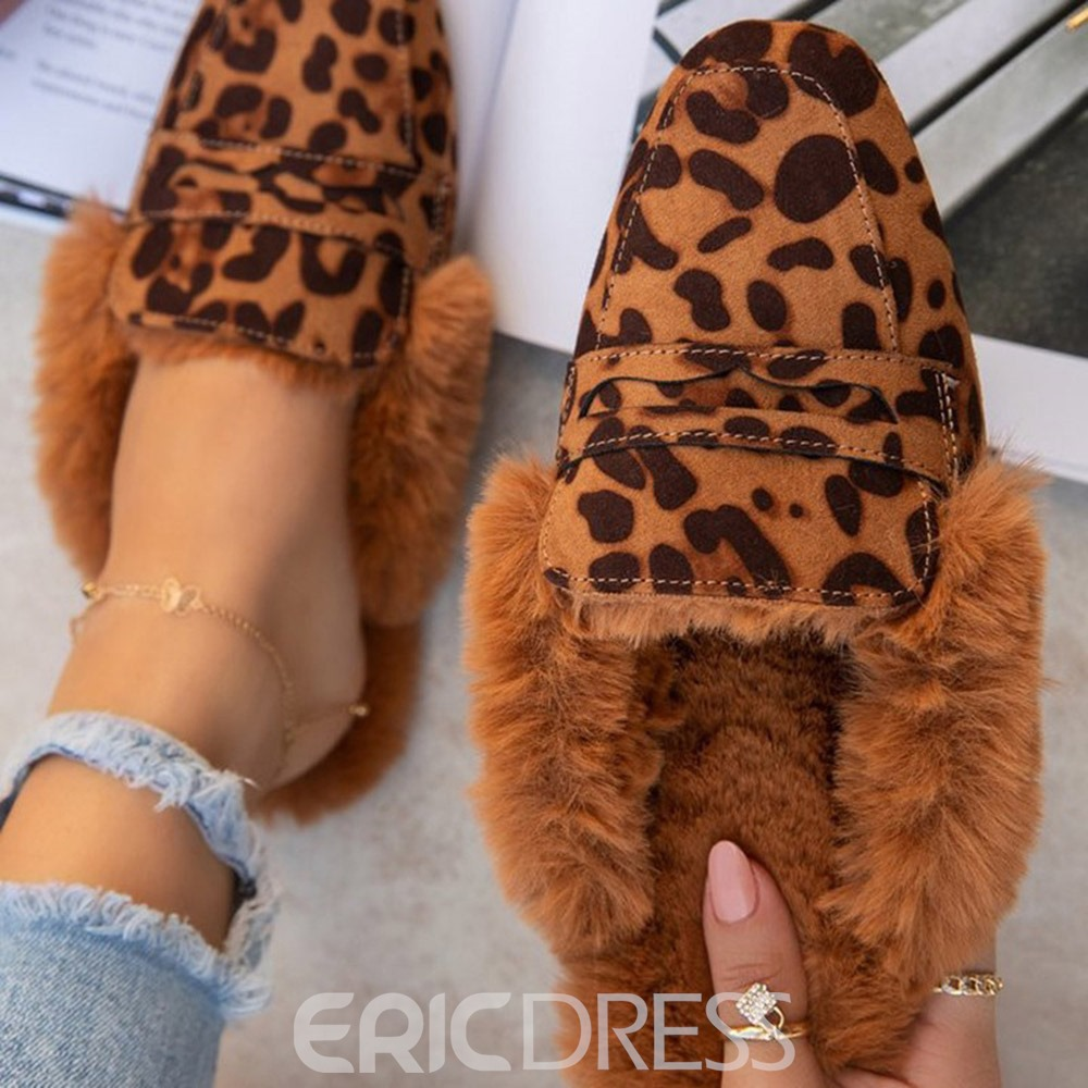 Ericdress Flat With Alligator Pattern Closed Toe Professional Slippers