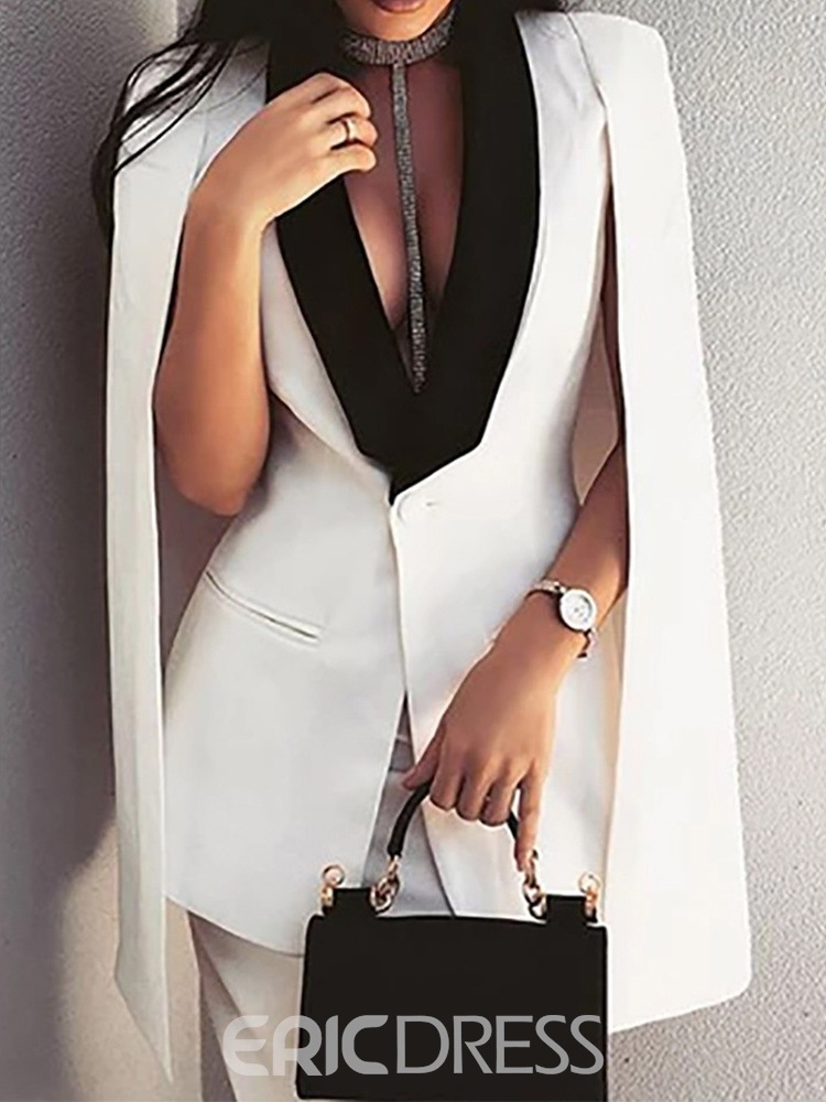 Ericdress Fashion Pants Button Ankle Length Long Sleeve Suit