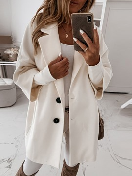 Ericdress Loose Button Single-Breasted Winter Notched Lapel Overcoat