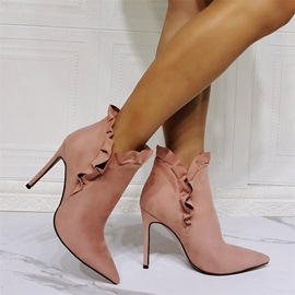 Ericdress Pointed Toe Plain Slip-On Banquet Boots
