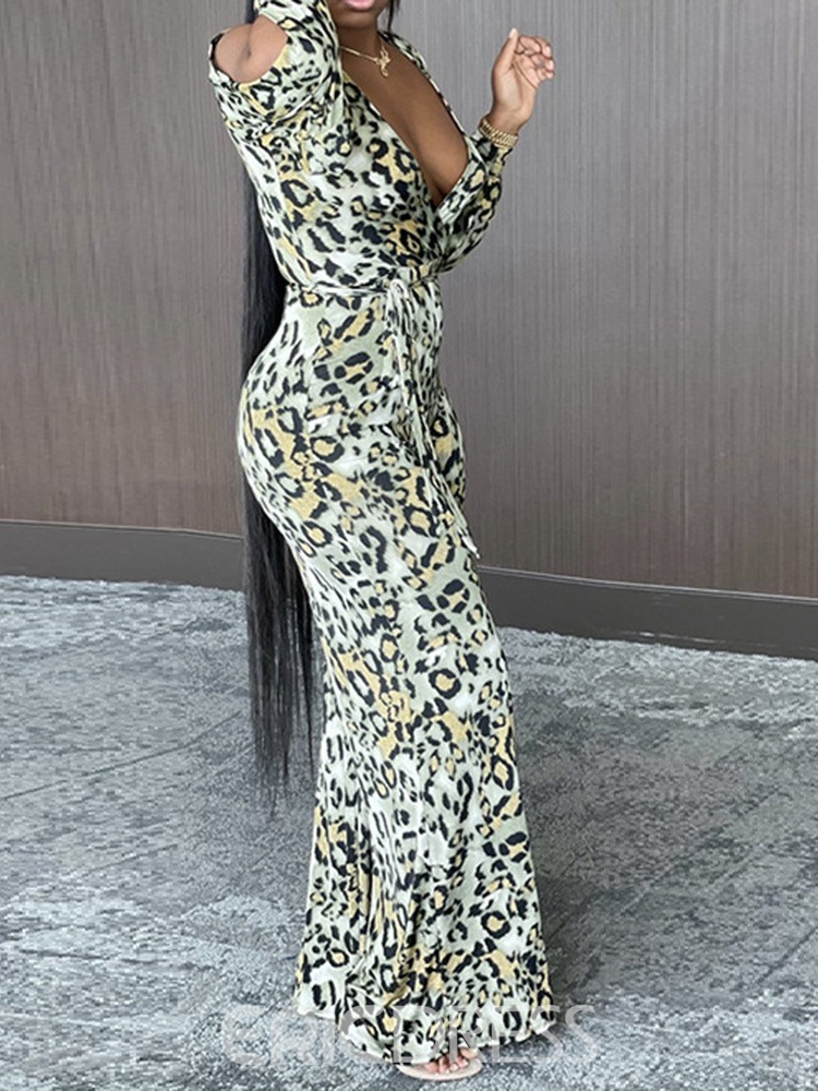 Ericdress Lace-Up Sexy Full Length Straight High Waist Jumpsuit