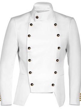 Ericdress Stand Collar Button Plain Double-Breasted Men's Fashion Jacket