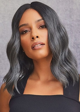 Ericdress African American Women's Medium Hairstyles Body Wavy Human Hair Lace Front Wigs 18Inch