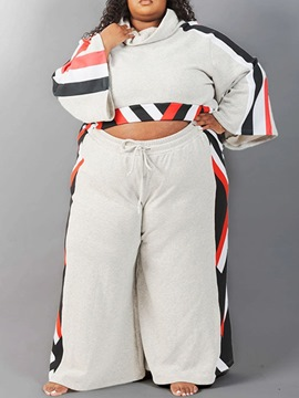 Ericdress Hoodie Western Color Block Pullover Straight Two Piece Sets