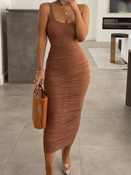 Ericdress Sexy Pleated Jumpsuit Bodycon Two Piece Sets