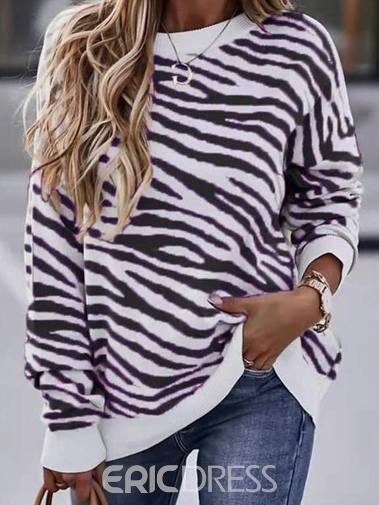 Ericdress Long Sleeve Round Neck Mid-Length Spring Casual T-Shirt
