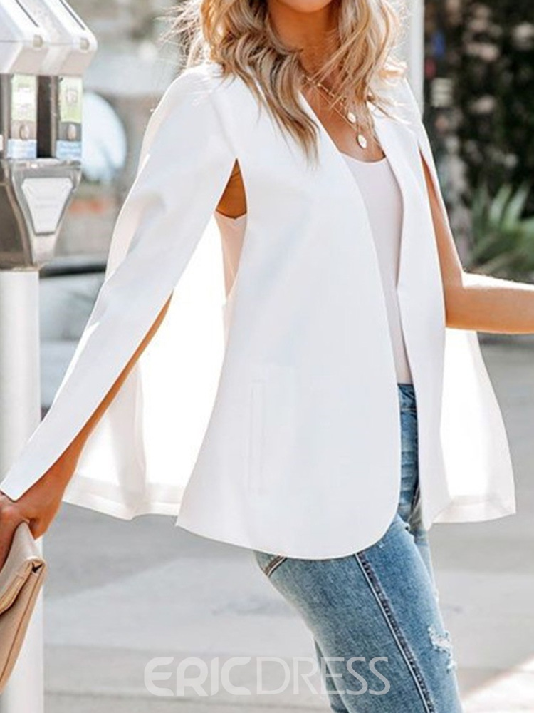 Ericdress Long Sleeve Wrapped Plain Mid-Length Spring Casual Blazer