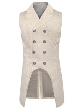 Ericdress Button Plain Notched Lapel Double-Breasted Fashion Men's Waistcoat