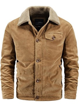 Ericdress Thick Button Lapel Fashion Men's Single-Breasted Jacket