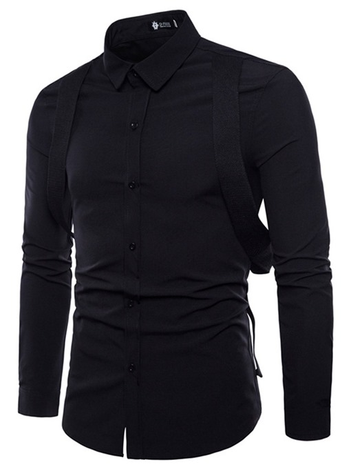 Ericdress Button Lapel Casual Single-Breasted Slim Men's Shirt