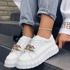Ericdress Closed Toe Low-Cut Upper Lace-Up Casual Sneakers