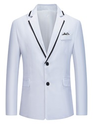 Ericdress Notched Lapel Single-Breasted Slim Leisure Blazer