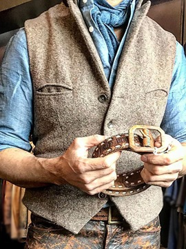 Ericdress Plain Button Single-Breasted Fall Men's Vest
