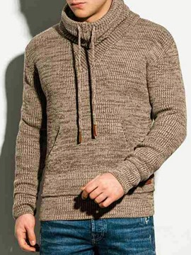 Ericdress Pullover Lace-Up Plain Winter Pullover Hoodies