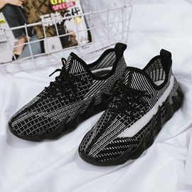Ericdress Lace-Up Mid-Cut Upper Round Toe Casual Sneakers