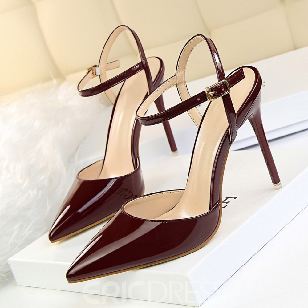 Ericdress Pointed Toe Stiletto Heel Buckle Professional Sandals