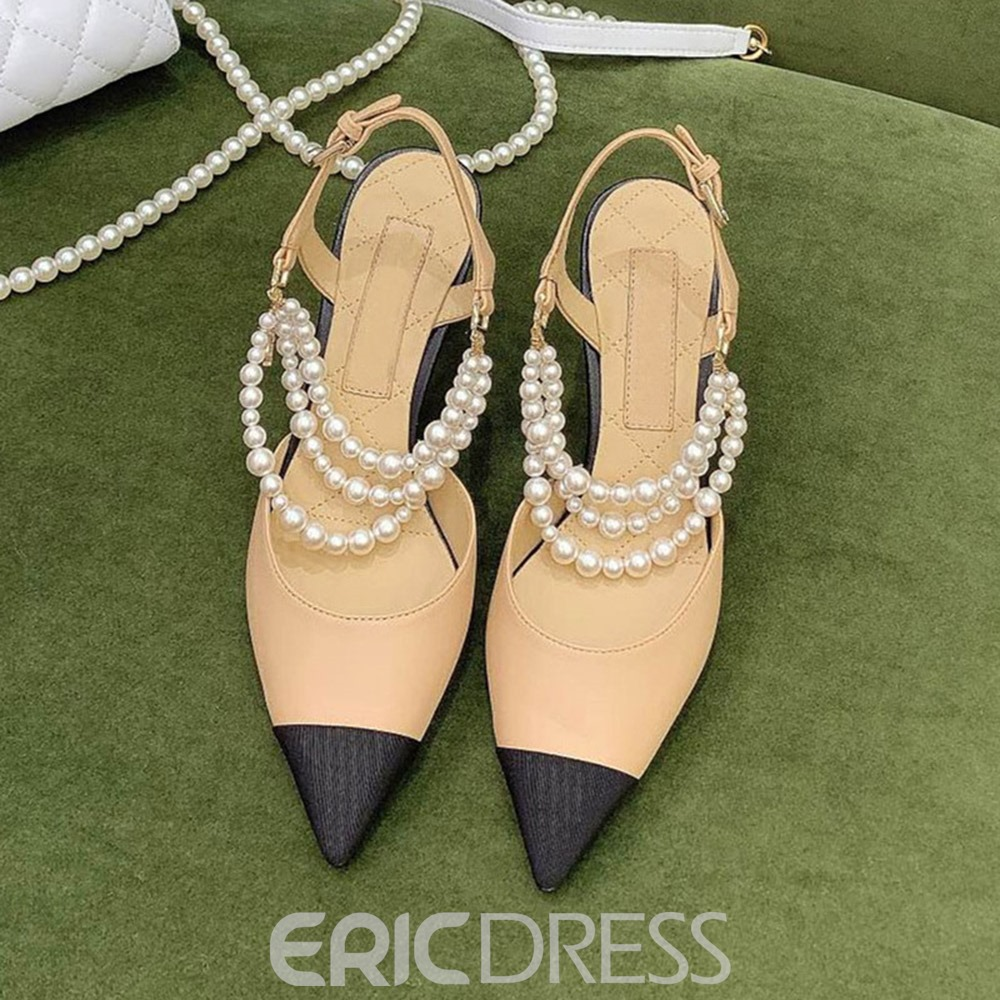 Ericdress Pointed Toe Buckle Stiletto Heel Professional Sandals