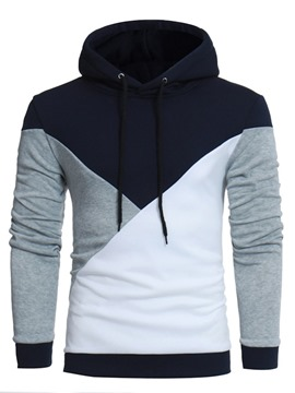 Ericdress Print Pullover Color Block Pullover Casual Hoodies