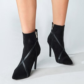 Ericdress Pointed Toe Stiletto Heel Side Zipper Professional Boots