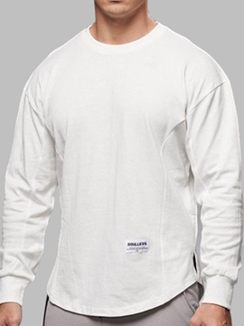 Ericdress Round Neck Plain Sports Pullover Loose T-shirt